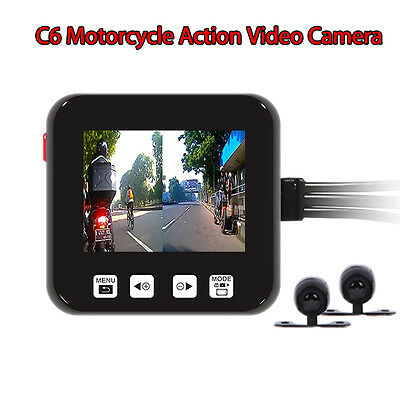 SZV-SYS C6 Motorcycle Biker Action Video Camera Set DVR HD 720p Cameras NEW