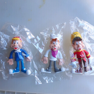 """Vintage Kellogs Cereal """" Snap, Crackle and Pop """" figurines"""