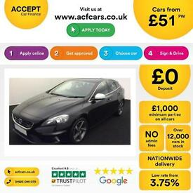 Volvo V40 1.6TD D2 ( 115bhp ) ( s/s ) 2015MY R-Design FROM £51 PER WEEK!