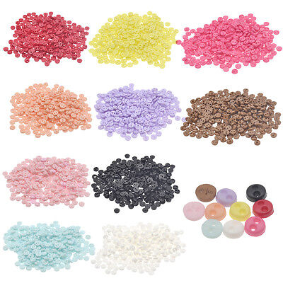 300pcs Mini Colorful Plastic Doll Button Tiny Round DIY Craft Sewing Accessories