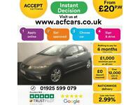 2011 GREY HONDA CIVIC 1.8 I-VTEC ES PETROL 5DR HATCH CAR FINANCE FR £20 PW