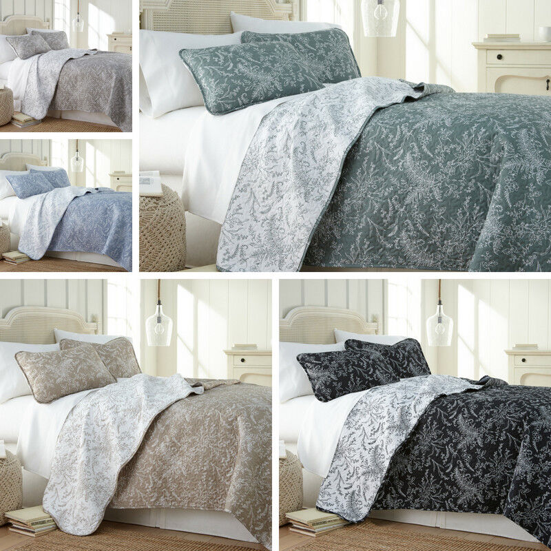 Ultra-Soft Lightweight Reversible Floral Patterned 3-Piece Q