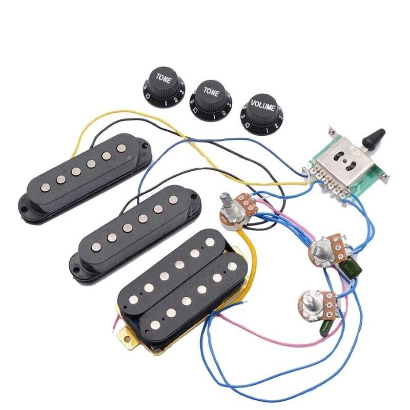 St Electric Guitar Pickups Wiring Harness Prewired 5