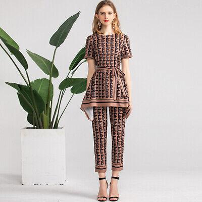 2pcs  Fashion Women New 2019 Tops+Pants Suits Female T-shirt Sets Wholesale Hot - Wholesale Womens Suits