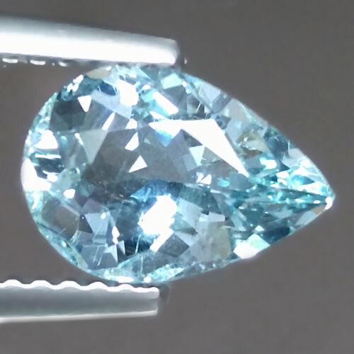 1.41cts Nice Pear Blue Natural Aquamarine Loose Genuine Gemstones Free Shipping