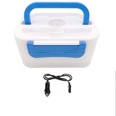Portable 12V Car Adapter Electric Lunch Box Heated Compact Bento Food Warmer NEW