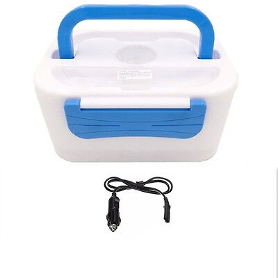 Portable Electric Lunch Heated Compact Bento Box Food Warmer & 12V Car Adapter