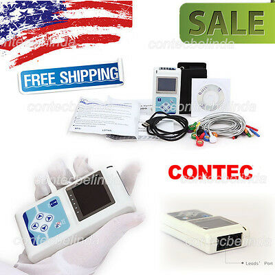 12 Channel ECG Holter ECG 24 Hours Holter EKG Monitor Software TLC5000 CONTEC