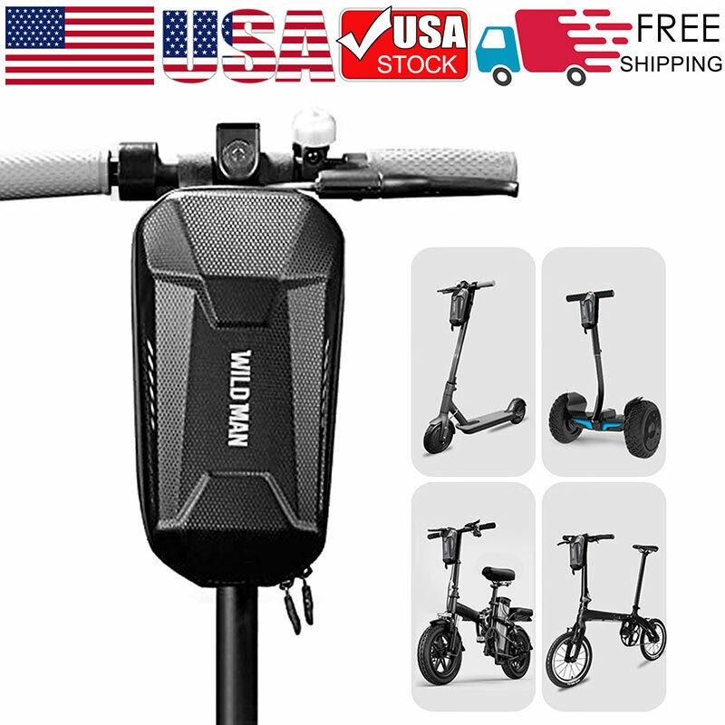 Waterproof Storage Bag Front Hanging Bag Electric Scooter Handlebar EVA Pouch US