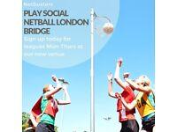 Play Social Netball in London Bridge!
