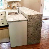 Kitchen countertop installer helper