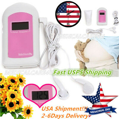 Hot Salebaby Sound Lcd Pocket Fetal Doppler Prenatal Heart Rate Monitorgelusa