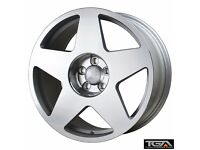 """18"""" Bola B10 Silver Polished for VW Audi Seat Etc"""