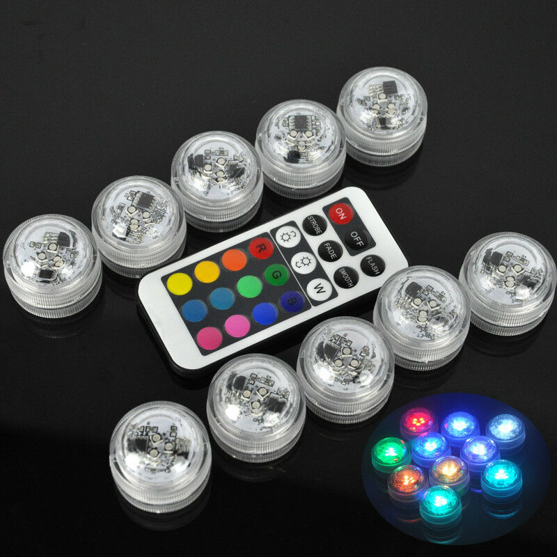 7 Colors Swimming Pool Remote Control Rgb Led Light Multicolor Underwater Lamp Ebay