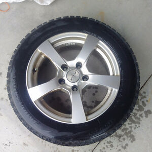 Snow Tires of Stainless Rims