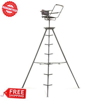Portable Tripod Swivel Seat Stand 360 For Game Hunter Deer Turkey Ladder 12 -