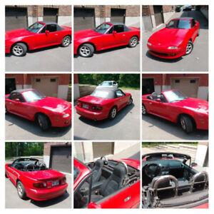 Mazda Miata mx-5  1995 décapotable rouge automatique