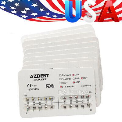 Usa 10packs Dental Orthodontic Bracket Braces Mini Mbt 022 Hooks 3-4-5 Azdent