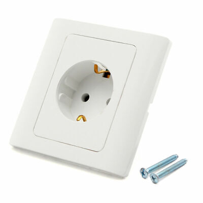 German Standard EU 250V 16A Wall Socket 1 Gang Power Outlet Single Plug + Screws 16a Single Outlet