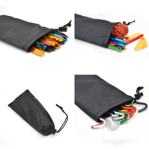 Oxford Cloth Drawstring Storage Bag for Camping Tent Pegs Nails Stake Hammer