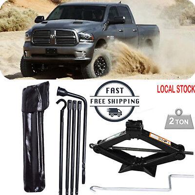 For 2002-2015 Dodge Ram 1500 Spare Tire Lug Wrench Tools W/ 2 Tonne Scissor jack