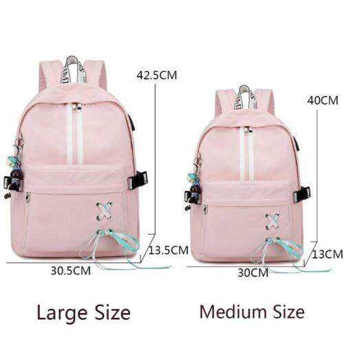 Fashion Anti Theft Reflective Women Backpack USB Charge Earp