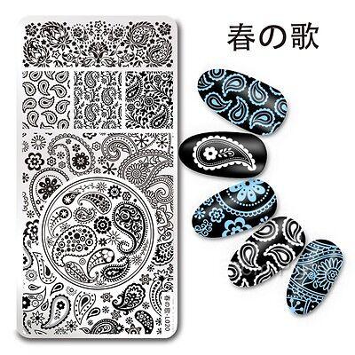 Nail Art Stamp Stencil Plate Paisley Bandanna Design  Haruno