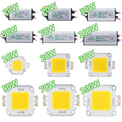 (10W 20W 30W 50W 70W 100W Chip Driver + SMD Waterproof  Supply Bulb  LED Power)