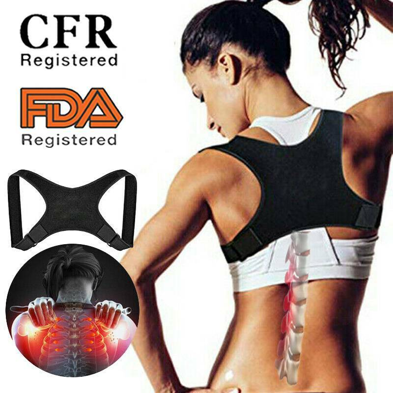 Details About Cfr Back Shoulder Support Posture Corrector Adjustable Brace Pain Relief Unisex