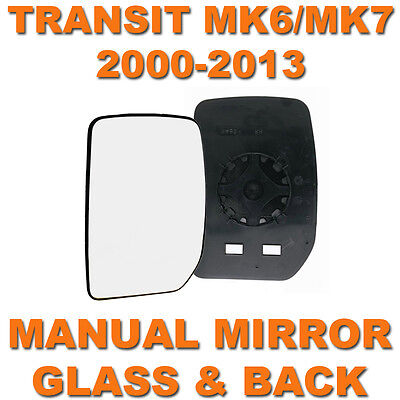 Car Parts - TRANSIT MK6/MK7 2000-2013 MANUAL DOOR WING MIRROR GLASS PASSENGER SIDE LEFT N/S