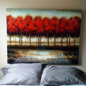 trees - large painting 50 inches wide