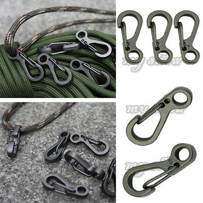 20x Outdoor Carabiner Camp Spring Snap Clip Hook Keychain Climbing Hiking