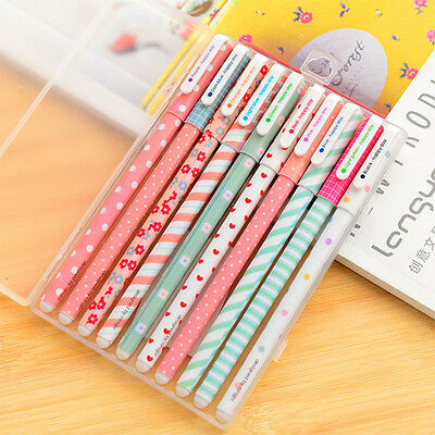 Practice 10Pcs/1Set Colorful Gel Pen Set Cute Korean Stationery Pen for Writting