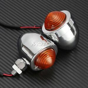 Motorcycle-2-pcs-Chrome-Amber-Turn-Signals-Lights-For-Honda-VTX-1300-C-R-S-RETRO