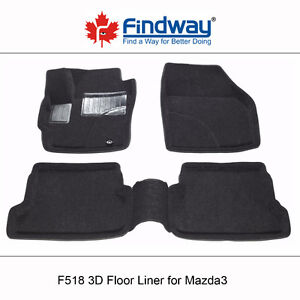 All weather 3D Car Floor Mats/Liners for 2004-2009 Mazda3