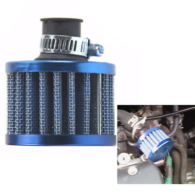 UNIVERSAL 12mm Breather Air Filter for oil Catch Tank Crankcase Vent Intake BLUE