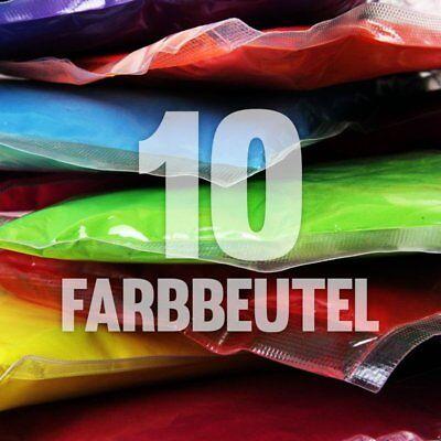 10 x Holi Pulver - Gulal - Festival Farbbeutel - Fotoshooting 10 Farben