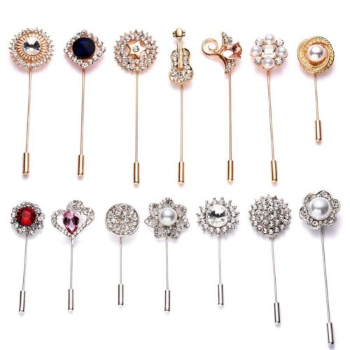 Pins and Brooches Collar Lapel Pins Badge Flower Rhinestone Brooch Jewelry New
