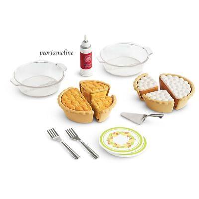 American Girl Doll PIE BAKING SET~ NEW~Retired~Bakery~Plates~Forks~Kitchen~NEW