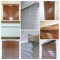BLINDS  SOLID WOOD BLINDS . NO fake( faux ) wood.