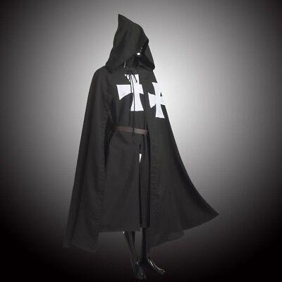 LARP MEDIEVAL WARRIOR Cosplay Costume HOSPITALLER KNIGHT Tunic /CAPE Cloak Robe ()