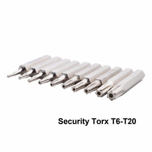 10 Piece Torx Security Bit Set (4mm)