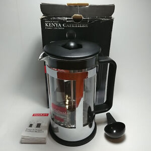 FRENCH PRESS KENYA CAFETIERE 8 CUP 1 L THE LID HAS A CUT HOLE