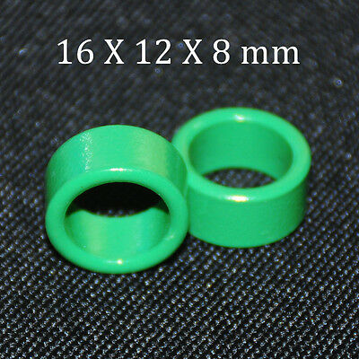 10pcs Green Ferrite Bead 16x12x8mm Toroide Cores Coil Inductor Ring Cable Filter