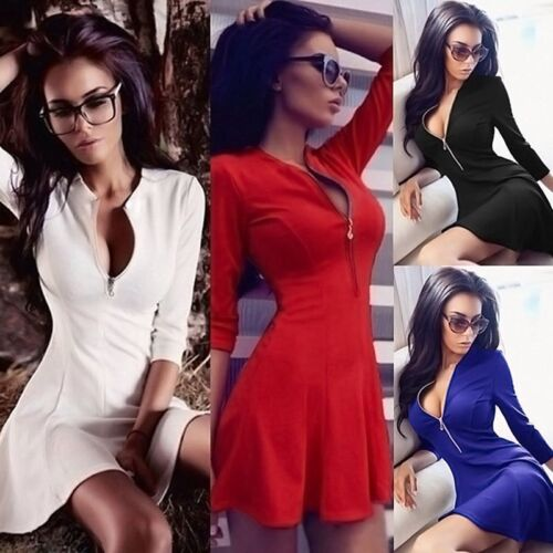 Dress - Fashion Women Long Sleeve Casual Party Evening Cocktail Party Short Mini Dress