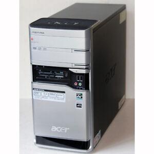 Acer Aspire E380 Desktop PC AMD Dual Core 4GB RAM 250GB HDD DVD