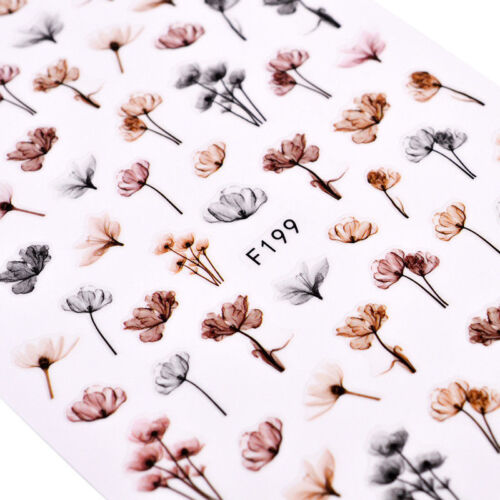 Good Quality Dandeli Flower 3D Nail Stickers Nail Art Adhesive Sticker Decals