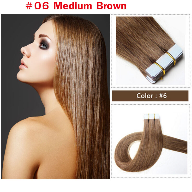 Remy Seamless Tape Skin Weft Human Hair Extensions Hair Extensions