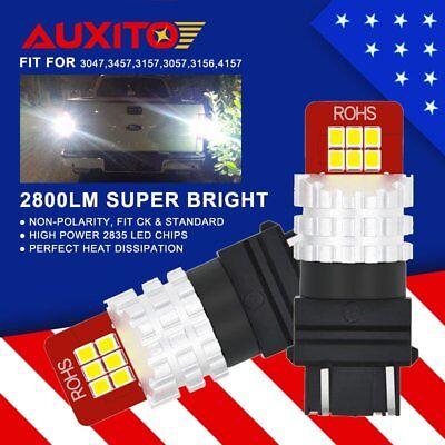 2800LM LED 3156 3157 Backup Reverse Light Bulbs For 1999-2013 GMC Sierra 144CHIP