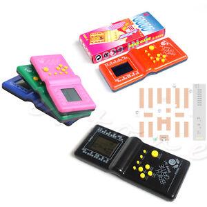 Vintage LCD Game Electronic Retro Tetris Brick Handheld Travel Pocket Toys